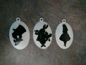 Alice in Wonderland Cameos for Silhouette Set