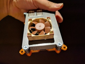 40mm fan top pi3 case w/ vents