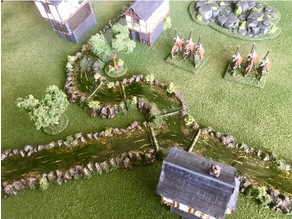 Wargaming River - Long Straight and 90o Bend 15mm / 28mm