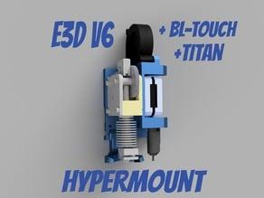 Hypermount - Direct Extruder / Titan / e3d v6 for Hypercube Evolution