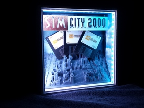 Forced Perspective Simcity 2000 Shadow Box
