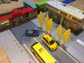 U-turn road for tomica town
