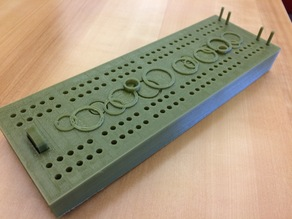 Basic Cribbage Board