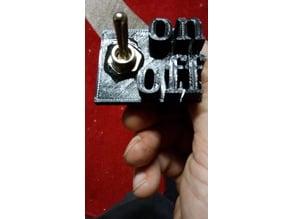 Flip switch holder