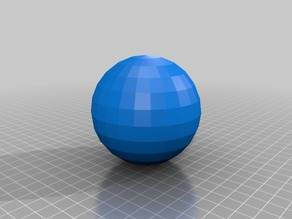 "3"" dia. low poly sphere with hole (1/2"" wall thickness)"