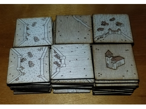 Carcassonne Tile Set remix for K40 (with river2, the abbot, inns and cathedrals and traders and builders)