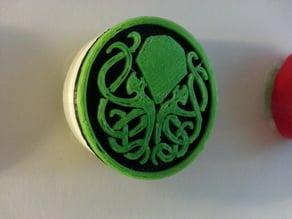 Cthulhu badge leash cover