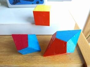 Trapezohedra Magnet Tiles