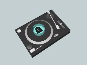 Ghostly Vinyl Challenge Turntable Can Holder
