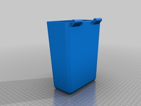 Simple and small hinged car trash can