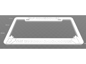 Zap Rowsdower - The Canadian Chuck Norris, license plate frame, MST3K