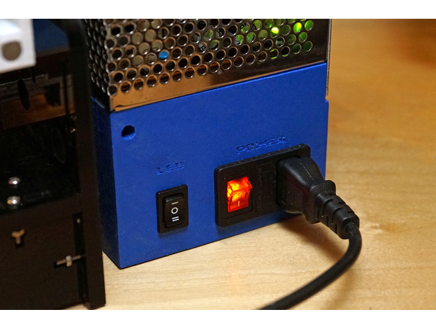 Anet A8 Power Supply Cover Power And Led Switch By Tns
