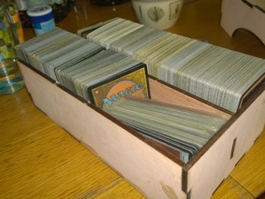 Parameterized Lasercut Two-Partition Box for Magic: The Gathering Cards