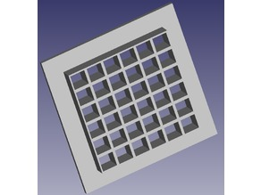 Square Air grid 12cm
