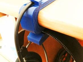 """Headphone hanger for Grado, 1"""" desk"""