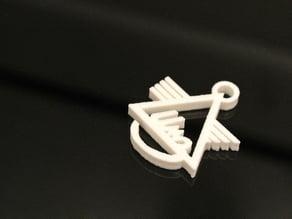 Ural keychain (IMZ) - Irbit Motorcycle Factory (no frame)