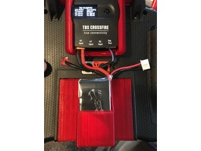 Spektrum DX9 battery cover/Tattu 3S 850 holder