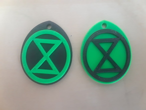Extinction Rebellion XR Keyring