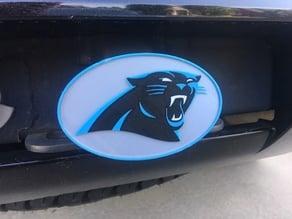 Carolina Panthers receiver hitch cover MMU