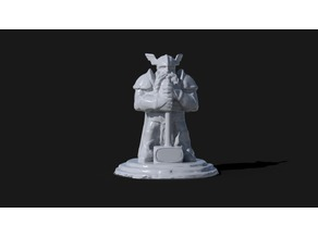 Dwarf Statue with Hammer