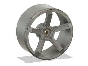 Five spoke RC Wheel