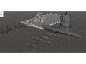 Robotech Inherit the Stars Zentraedi Combined Fleet RRT Strategy Game pieces set1 small ships