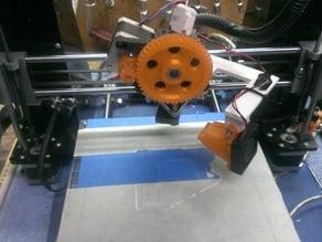 Prusa I3 swing-out fan mount