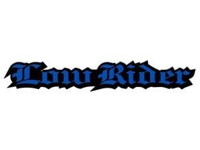 Low Rider badge