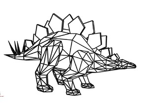 Stegosaurus Geometric 2D Wall Art