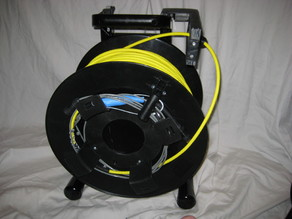 3d printed cable roller and waterproof control box for a Schill GT380 reel to turn it into a ROV or robot tether