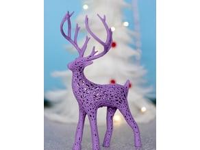 Reindeer voronoi, christmas deer