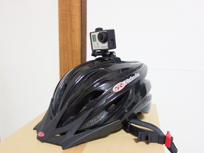 GoPro mount for bike helmet