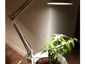 Ikea TERTIAL Grow Light Mod - lamp base for side of plant pot (hang-off)