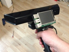 Kinect and Raspberry Pi2 with display mount