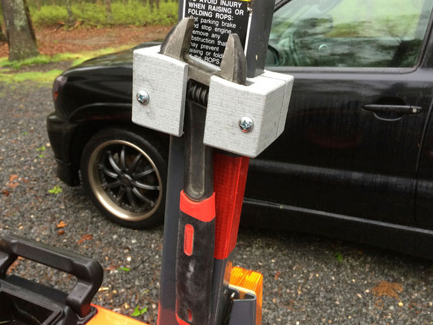 Kubota Tractor Tool Box : Kubota tractor adjustable wrench holder mount for the