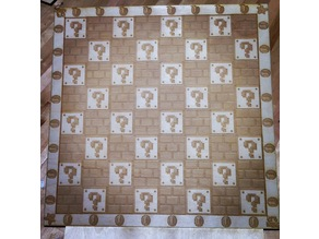 Classic Super Mario Bros Chess Board - Laser Etched