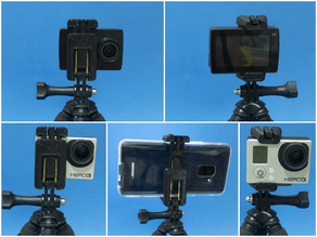 ActionCam/Phone holder with GoPro mount