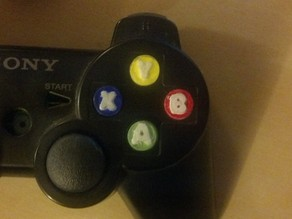 Xbox Buttons for PS3/4 Controller