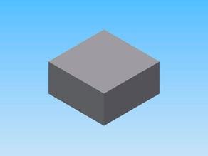 Calibration cube, cubo de calibracion 20 x 20 x 10 mm