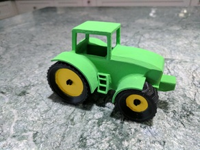 Snap Together Farm Tractor scaled and combined