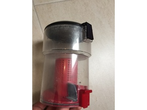 Vacuum cleaner container push button