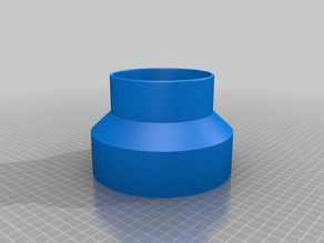 Chinese Laser Cutter Fume Vent Adapter (145mm-100mm)