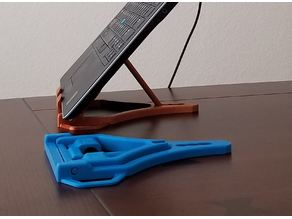 Foldable Laptop, Switch, Tablet, and Mobile phone stand.  Prints fully assembled.