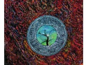 Viking cabochon pinback brooch