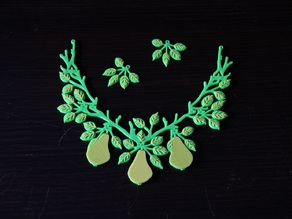 Pear Jewelry Set (easy to print)