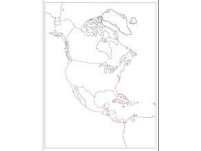 Montessori puzzle map of North America for laser cutting