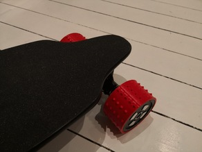 Electric longboard 90mm dirt tires