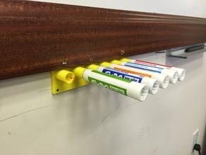 Fast-Draw Cap Free Dry Erase Marker Holder