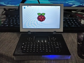 Budget solid Raspberry Pi laptop with 7 inch screen