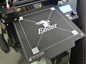 Creality Ender 3 Bed Leveling Calibration File - 190mm x 190mm